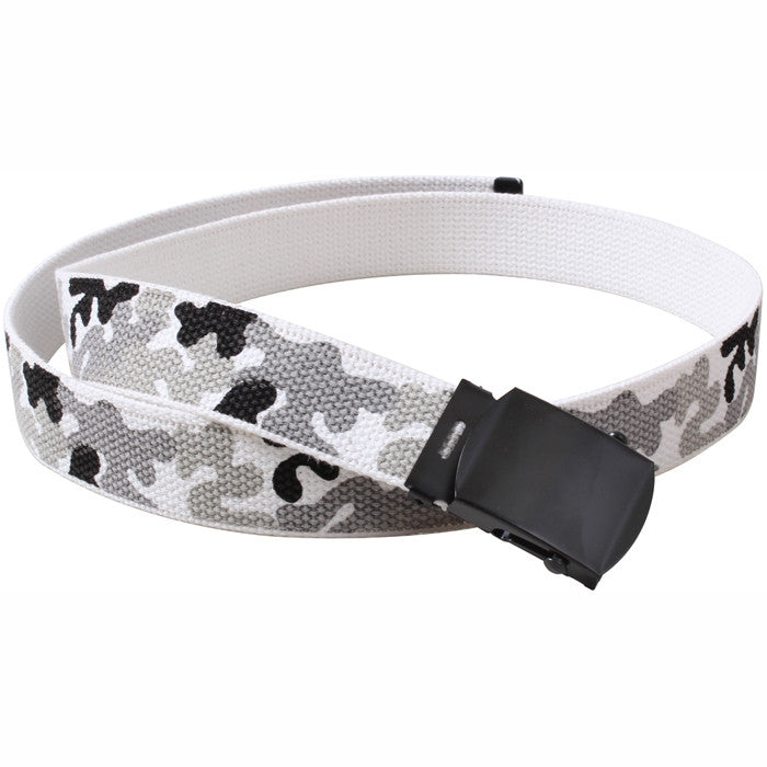 City Camouflage - Military Web Belt with Black Buckle 4180 44 in.