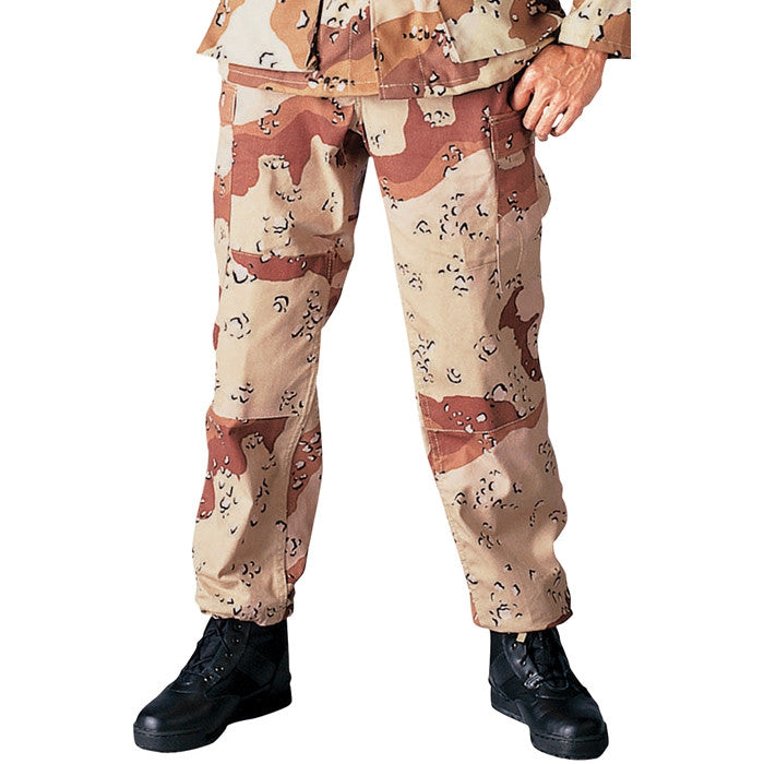 Desert Camouflage Six-Color - Military BDU Pants - Polyester Cotton