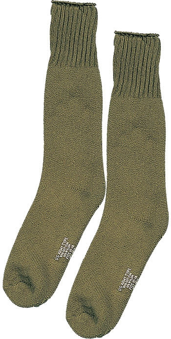 Olive Drab - Heavyweight Cold Weather Thermal Boot Socks Pair - USA Made