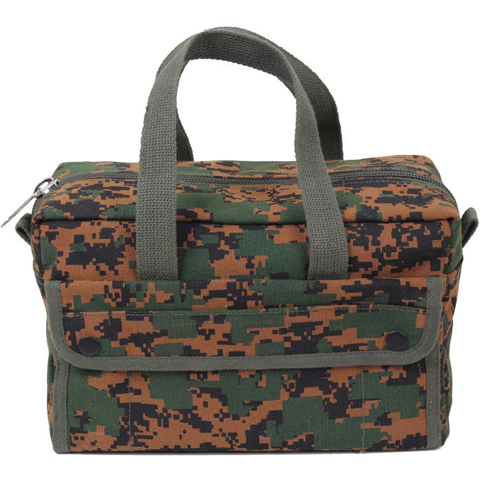 Digital Woodland Camouflage - Military GI Style Mechanics Tool Bag - Cotton Canvas