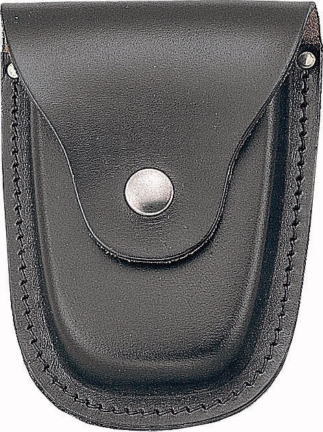 Black - Law Enforcement Deluxe Leather Handcuff Case