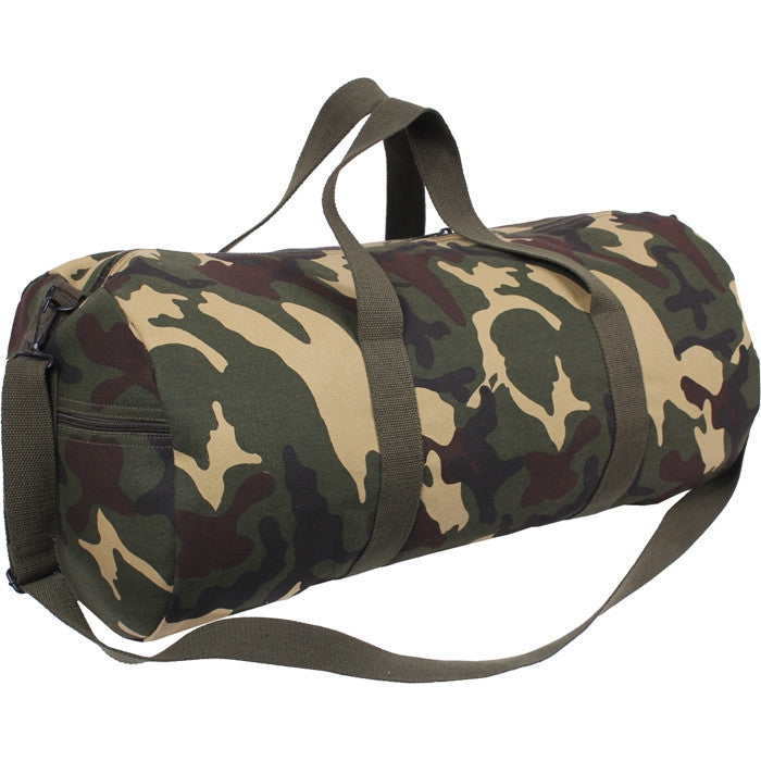 Woodland Camouflage - Military Heavy Duty Large Shoulder Bag