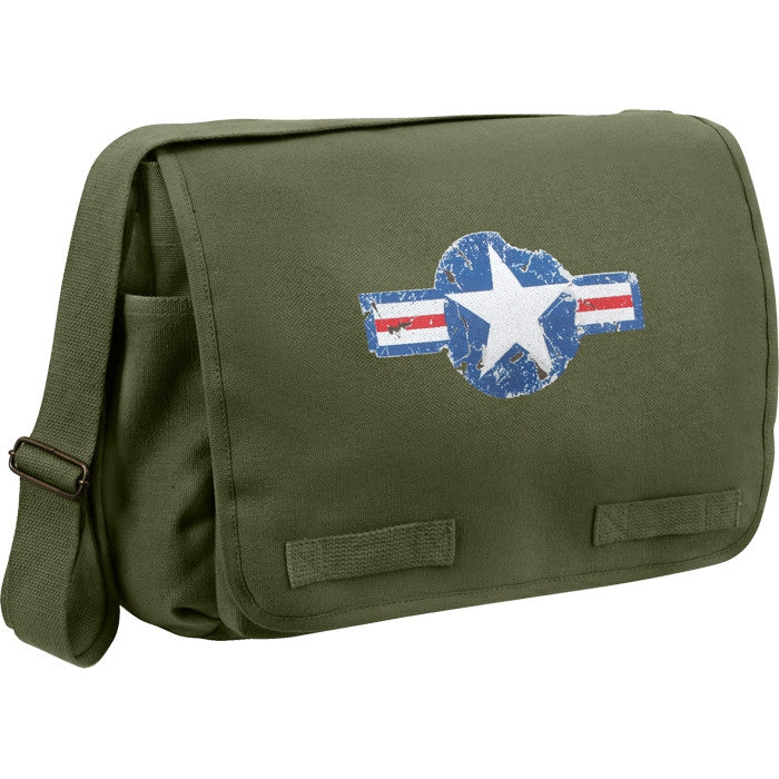 Olive Drab - Heavyweight Air Corp Classic Messenger Shoulder Bag