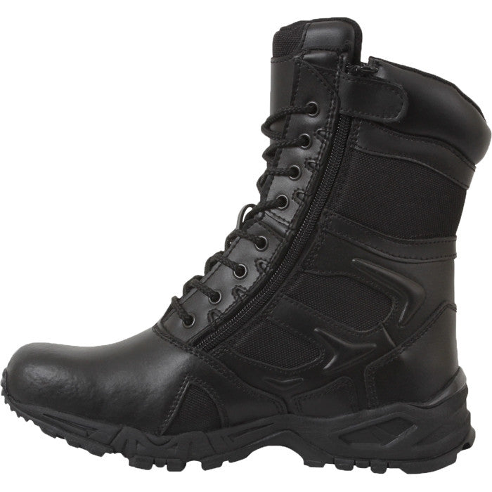 Black - Forced Entry Deployment Boots with Side Zipper 8 in.