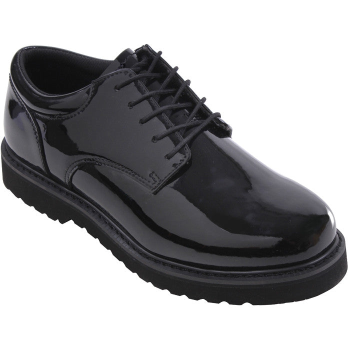 Black - Work Sole Military Uniform Oxford Shoes