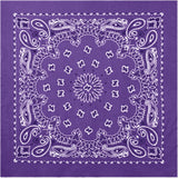 Purple - Trainmen Bandana 22 in. x 22 in.