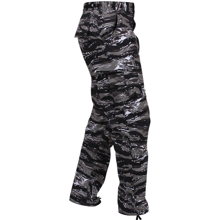 Urban Tiger Stripe Camouflage - Military BDU Pants - Polyester Cotton Twill