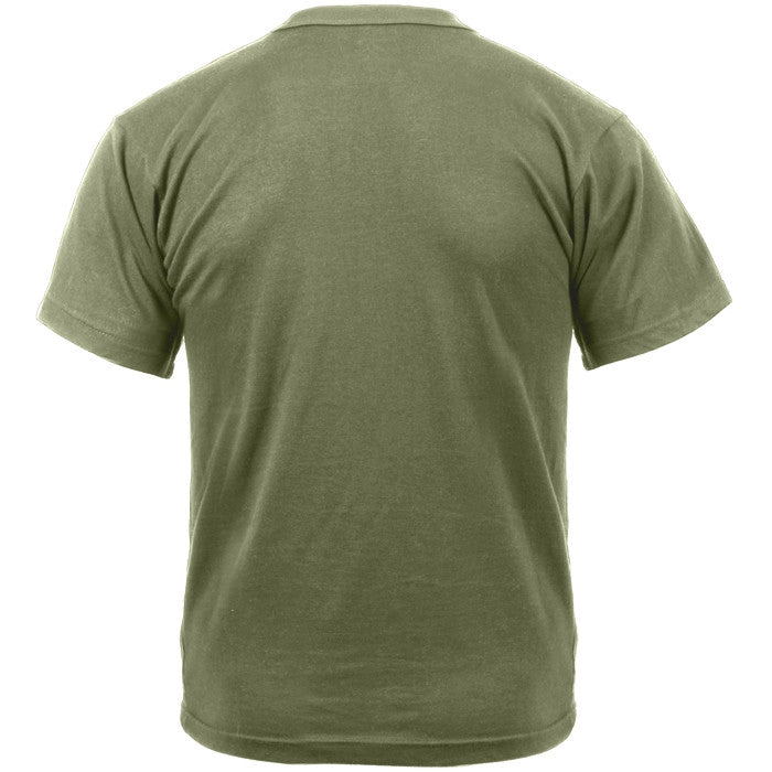 Foliage Green - Military GI Type ACU Short Sleeve T-Shirt - 100% Cotton