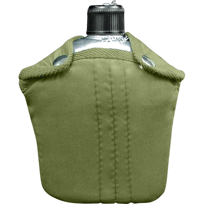 Aluminum Canteen with Olive Drab Cover
