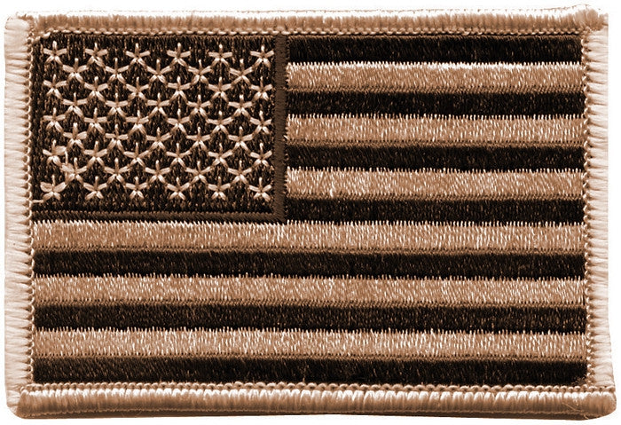 Desert Tan - US Flag Sew On Patch