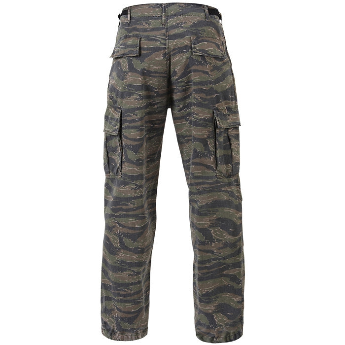 Tiger Stripe Camouflage - Military Vintage Vietnam Fatigue Pants