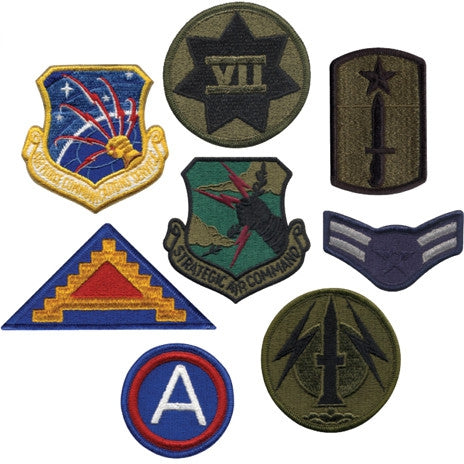 Assorted Military Patches - 50 Pack