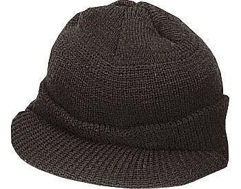 Black - Genuine GI Jeep Cap - Wool USA Made