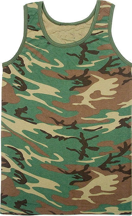 Woodland Camouflage - Military Tank Top