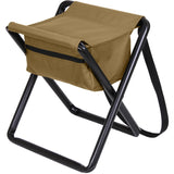 Coyote Brown - Military Deluxe Folding Stool with Pouch