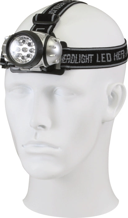 Black - 9 Bulb LED Headlamp