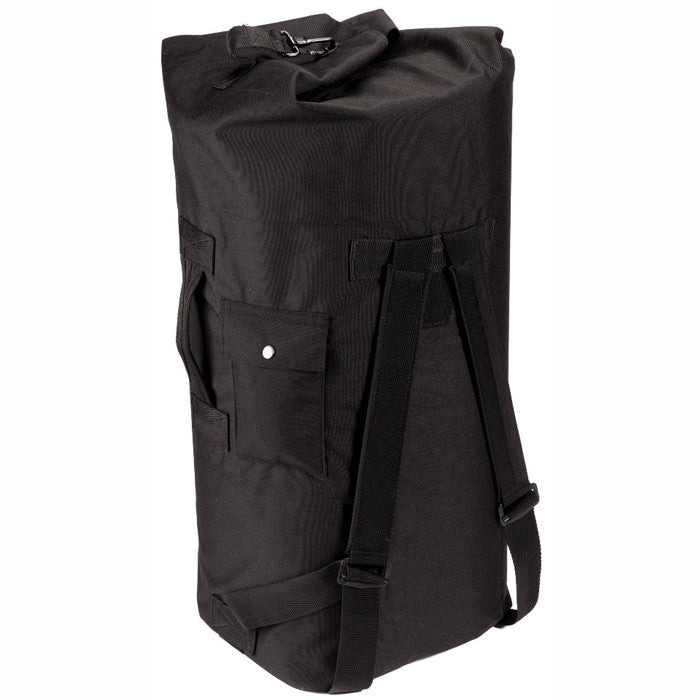 Black - Military Enhanced Double Strap Duffle Bag 24 in. x 36 in. - Cordura Nylon