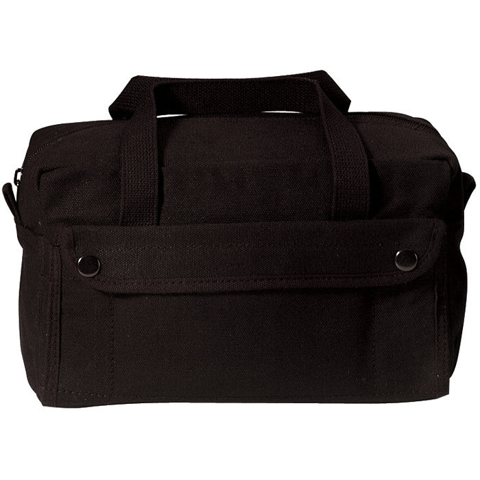 Black - Military GI Style Mechanics Tool Bag - Cotton Canvas
