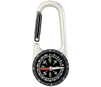 Silver - Professional Carabiner Compass - 110mm