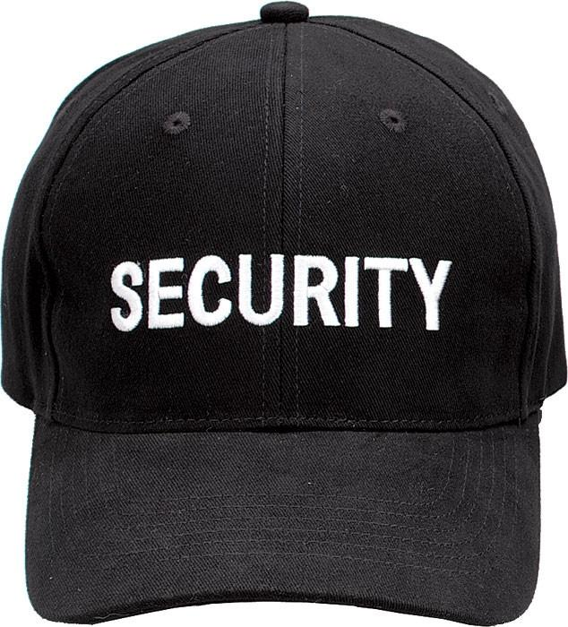 Black - Public Safety SECURITY Adjustable Cap with White Lettering