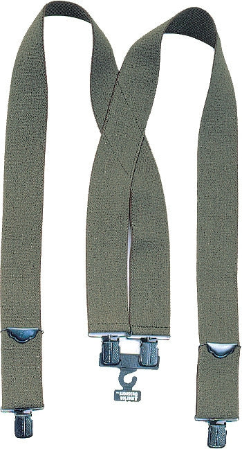 Olive Drab - Military Pants Suspenders