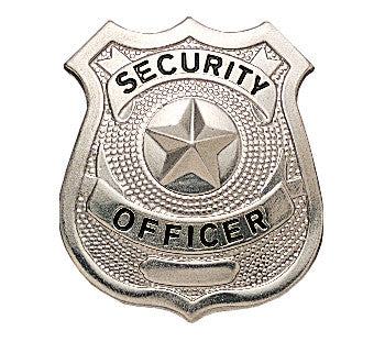 Silver - SECURITY OFFICER Pin-On Badge