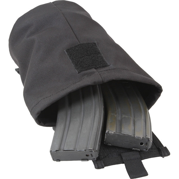 Black - Tactical MOLLE Roll Up Utility Dump Pouch