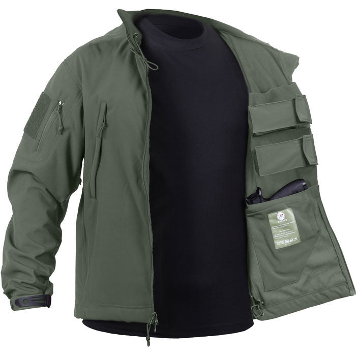 Olive Drab - Concealed Carry Soft Shell Jacket