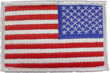 Red White Blue - Reversed US Flag Sew On Patch with White Border