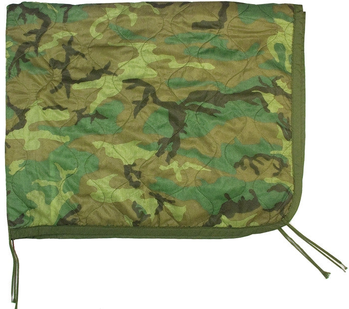 Woodland Camouflage - Military GI Style Poncho Liner