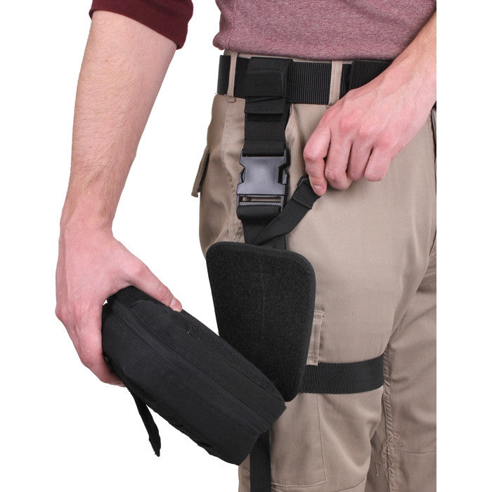 Black - Drop Leg Medical Pouch
