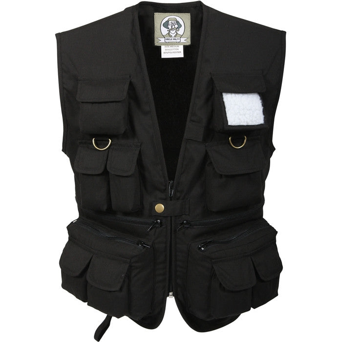 Black - Kids 17 Pocket Fishing And Travel Vest