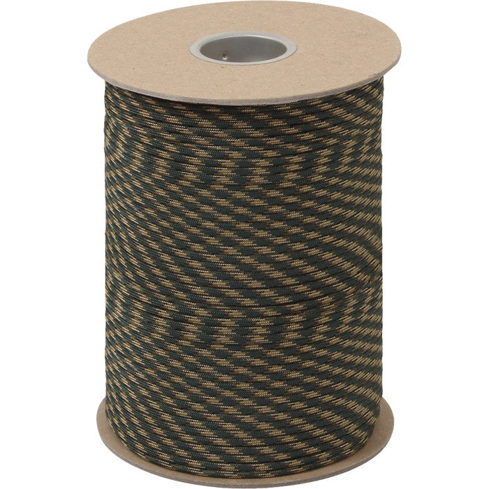Woodland Camouflage - Military Grade 550 LB Tested Type III Paracord Rope 600' - Nylon USA Made