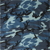 Sky Blue Camouflage - Military Bandana 22 in. x 22 in.