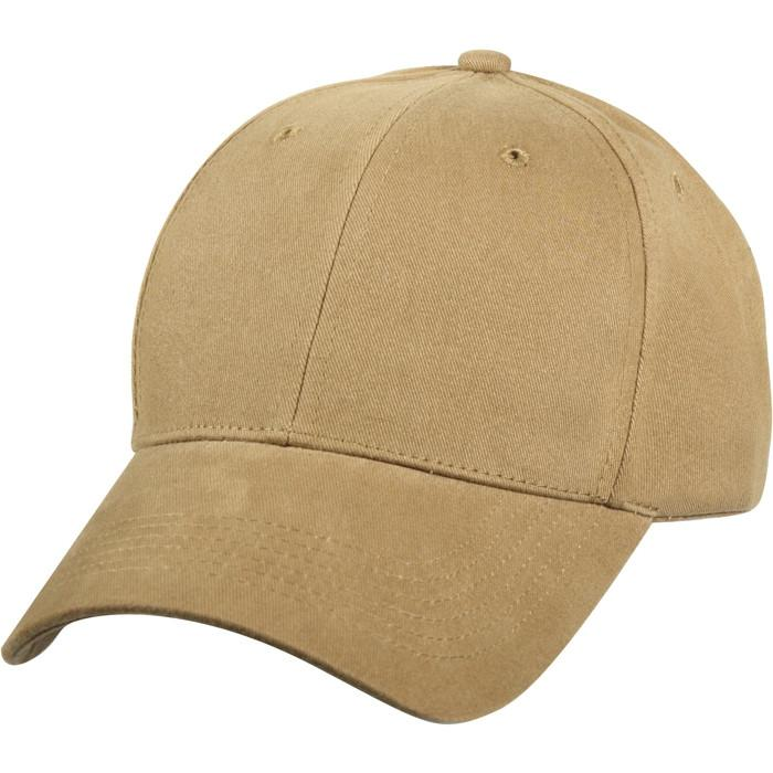 Coyote Brown - Military Low Profile Adjustable Baseball Cap