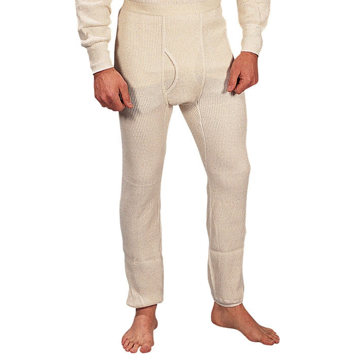 White - Extra Heavyweight Cold Weather Thermal Knit Underwear Pants
