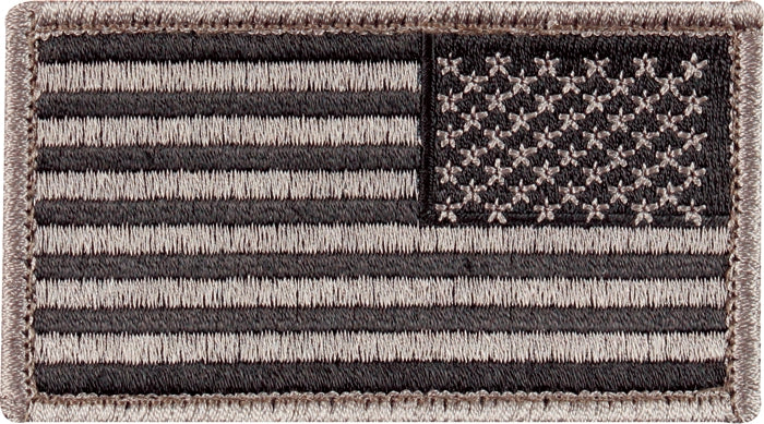 Foliage Green - Reversed US Flag Patch with Hook and Loop Closure