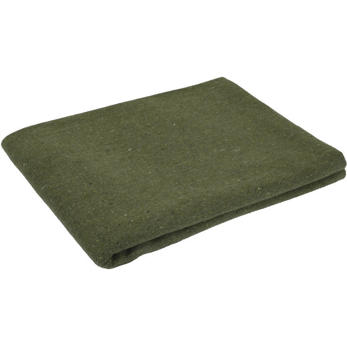 Olive Drab - Warm Rescue Blanket 60 in. x 80 in. - Wool