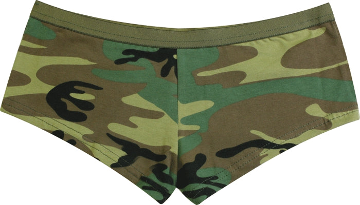 Woodland Camouflage - Womens Army Booty Shorts
