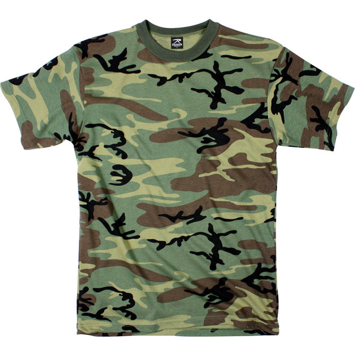 Woodland Camouflage - Military Heavyweight T-Shirt