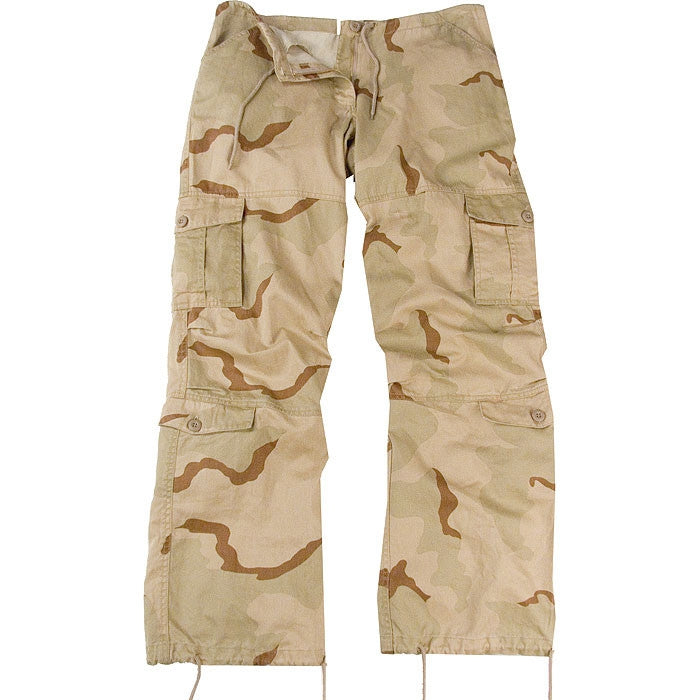 Tri-Color Desert Camouflage - Womens Vintage Paratrooper Fatigues