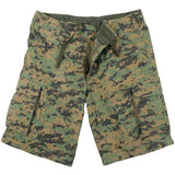 Digital Woodland Camouflage - Military Vintage Paratrooper Cargo Shorts