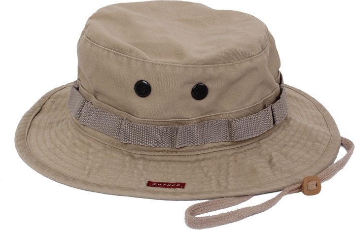 6364e8c18d ... Heavy Duty Poly Cotton Thick Boonie Fishing Jungle Hat With Wide Brim  ...