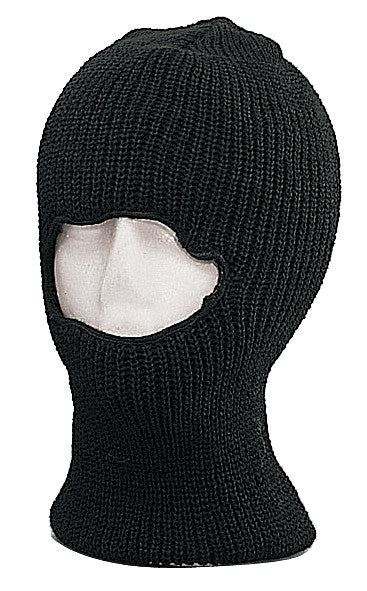 Black - One-Hole Cool Weather Face Mask - Acrylic