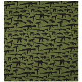 Olive Drab - Guns & Rifles Pattern Bandana 22 in. x 22 in.