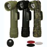 Black - Genuine GI Military D-Cell Anglehead Flashlight - USA Made