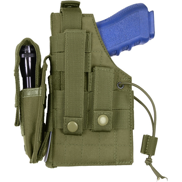 Olive Drab - Tactical Military MOLLE Pistol Holster