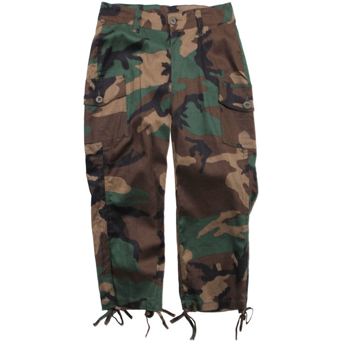 Woodland Camouflage - Womens Military Capri Pants