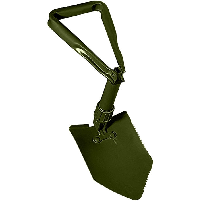 Olive Drab - Military Style Mini Tri-Fold Shovel