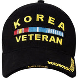 Black - KOREA VETERAN Low Profile Deluxe Adjustable Cap